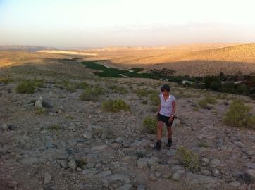 Walking in the Negev desert