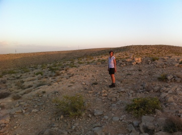 Walking in the Negev desert